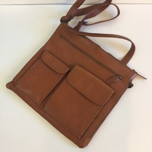Hobo International Cognac Brown Crossbody Purse